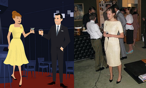 Mad Men vs me at a Mad Men party
