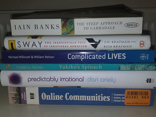 Books queued up in December 2008