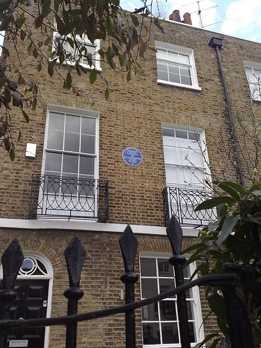 Lee Miller's house, Downshire Hill, London, March 2010
