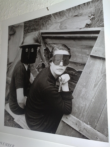 Women with firemasks by Lee Miller, 1941