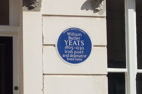 WB Yeats open plaque on Flickr courtesy of ChicagoGeek